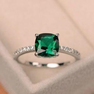 Jewelry - Cushion Cut Emerald Ring Sizes 6 & 7